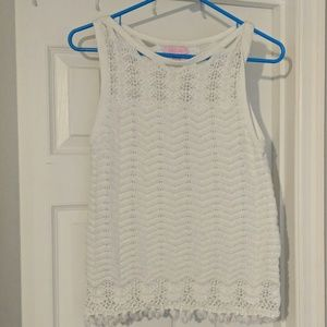 Lilly Pulitzer white tank top